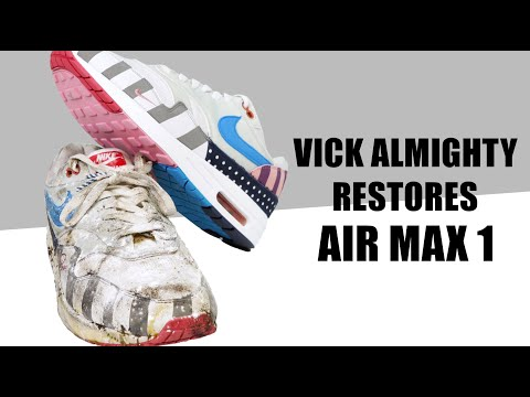 Vick Almighty Restores CRUSTY Air Max 1 Parra With Reshoevn8r