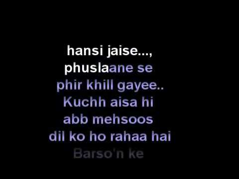 abhi mujh mein kahin sonu nigam Karaoke   YouTube