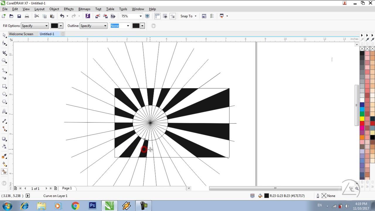 Belajar Coreldraw Membuat Bendera Jepang Youtube