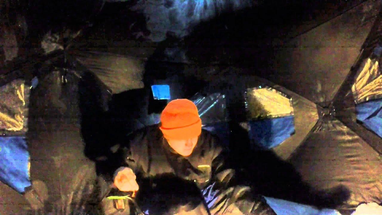 Night ice fishing foster joseph sayers dam at bald eagle for Ice fishing at night