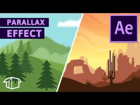 Landscape Game Parallax Effect Tutorial for After Effects CC