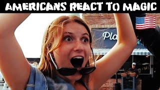 American Girls React to Magic-Julien Magic