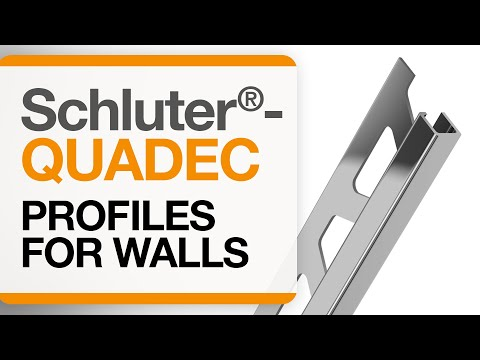 How to install tile edge trim on walls: Schluter®-QUADEC