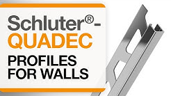 How to install tile edge trim on walls: Schluter®-QUADEC profile