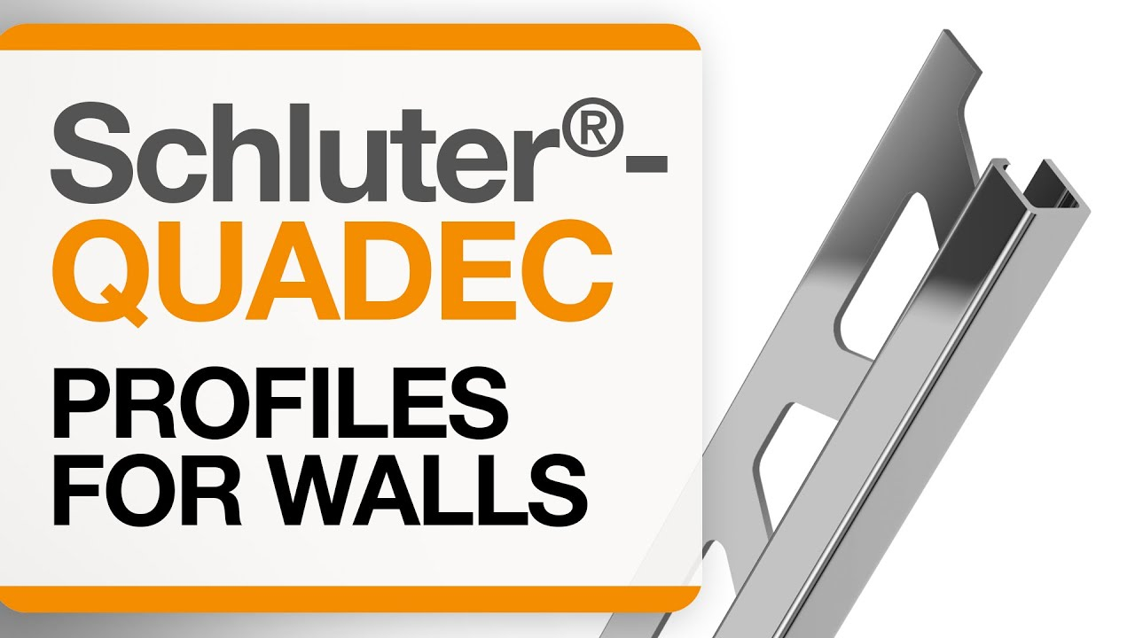 How To Install Tile Edge Trim On Walls Schluter Quadec Profile
