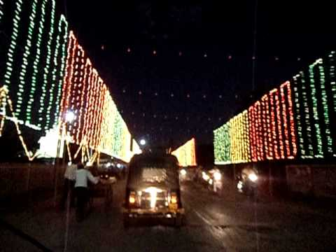 Lighting decoration of Durga puja in Bilaspur  YouTube