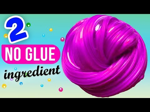 NO GLUE SLIME! AMAZING 2 INGREDIENT SLIME RECIPES