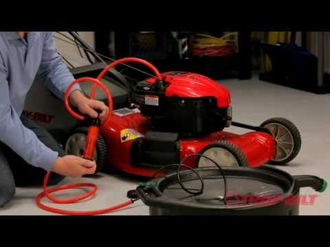 How To Change The Drive Belt Troy Bilt Walk Behind Lawn Mower