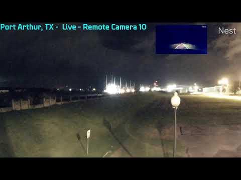 Hurricane Laura (2020) Part 5 - Texas - Storm Field Work - Vehicle Cam