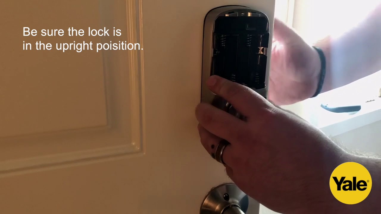 Yale Home Smart Lock Installation - Installing and Testing the Lock's  Interior Half