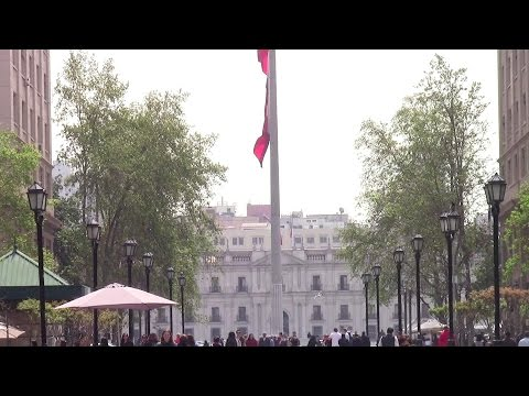 La Moneda presidential palace in Santiago, Chile