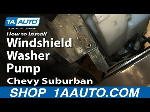 How to install replace windshield washer pump 2000 06 for 2001 chevy silverado window motor replacement