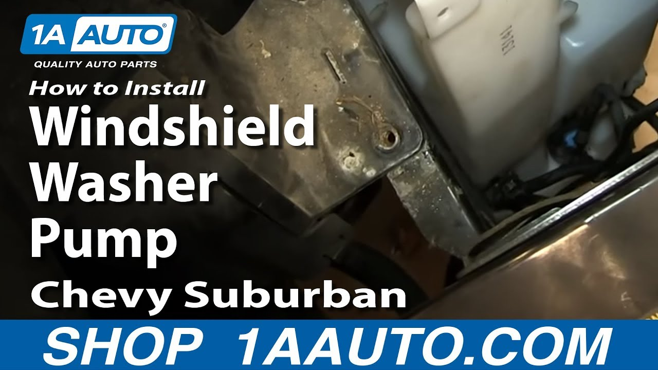 How To Install Replace Windshield Washer Pump 2000 06