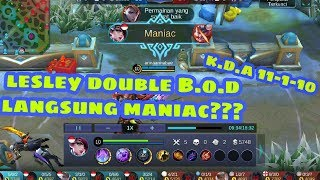 "Build item lesley super sakit auto ""MANIAC""!!!Mobile Legends Indonesia"