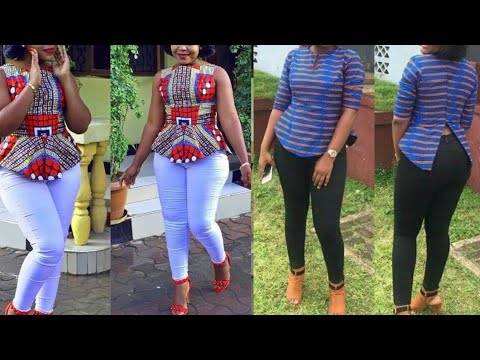 African fashion : ankara tops    aso ebi styles    2020 ankara top styles
