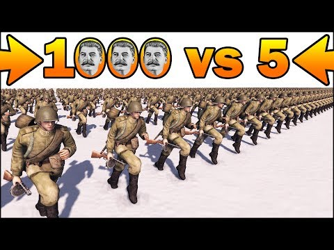 1000 STALIN'S SOLDIERS vs 5 MORTARS - MISSION IMPOSSIBLE - Men of War Assault Squad 2 - #91