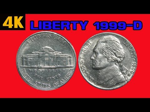 JEFFERSON IN GOD WE TRUST LIBERTY 1999-D  4K