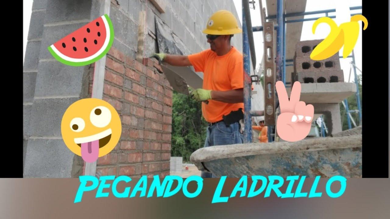 #BrickLayer#Construccion# Como Pegar Ladrillo, Pegando Ladrillo en comumna