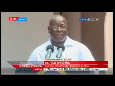 State House Spokesman Manoah Esipisu briefs the media from Mombasa
