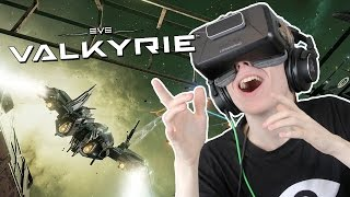 FIRST VR SESSION GAMEPLAY! | EVE: Valkyrie Launch Title (Oculus Rift DK2)