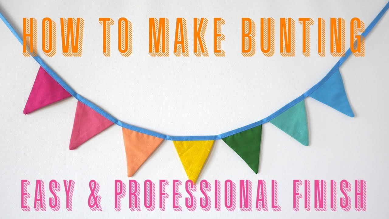 How to make Bunting | Easy tutorial but Professional finish | Scrap Busting Projects