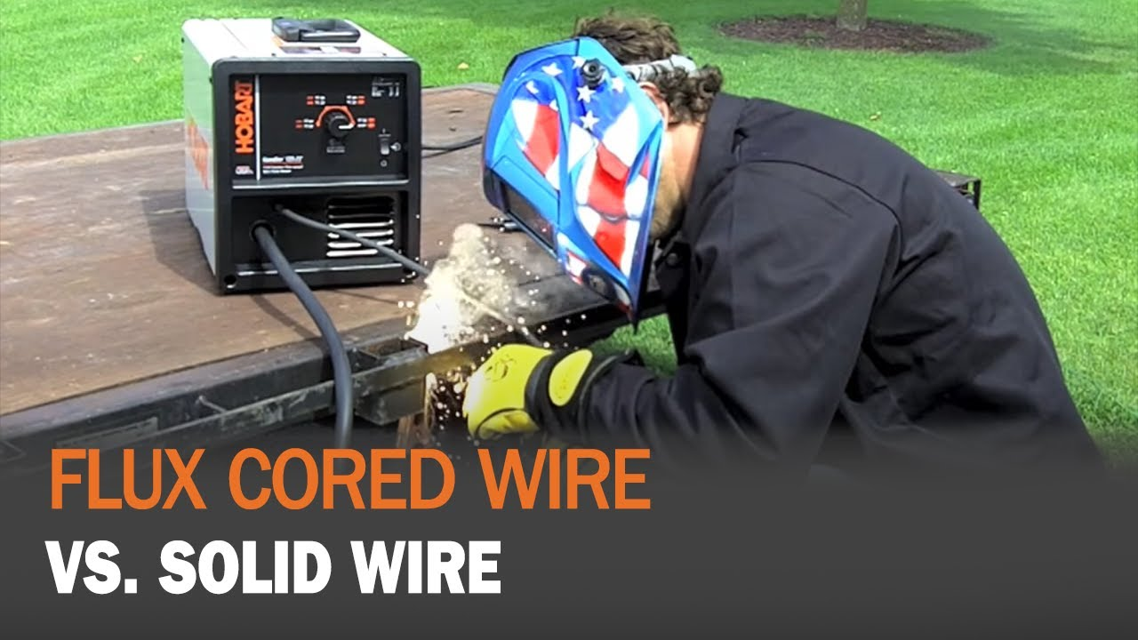 Flux Cored Wire VS. Solid Wire (MIG) - YouTube