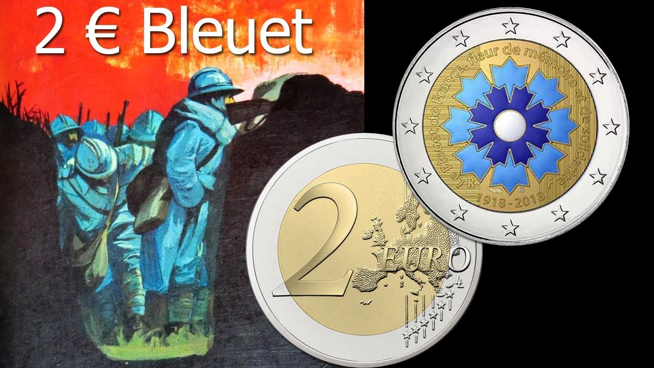Piece 2 Euro Bleuet De France Rarete Et Valeur Youtube