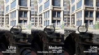 Call of Duty: Ghosts   PC Gameplay   Grafikeinstellungen   High vs. Medium vs. Low