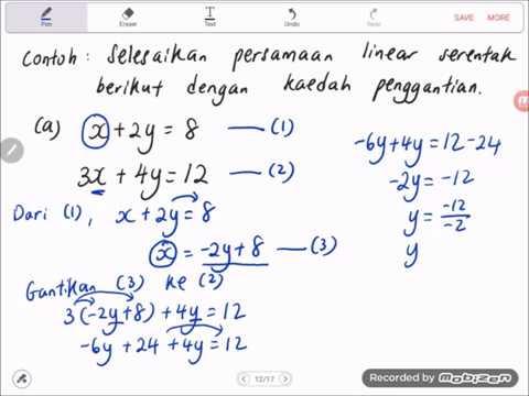 Latihan Persamaan Linear
