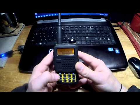 Setting up the Baofeng UV-5 radio to scan frequencies not transmit