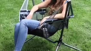 야외 간이 캠핑 흔들의자 접이식 폴딩 그네의자 아웃도어