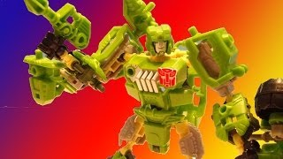 AUTOBOT HOUND CONSTRUCT-BOTS TRANSFORMERS VIDEO TOY REVIEW