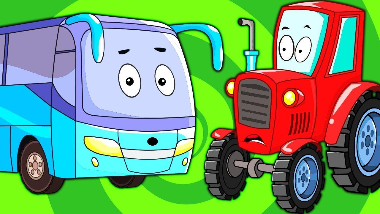 Автобус Синий Трактор - Развивающие Мультики про Машинки ...