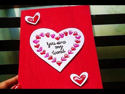 Anniversary Card handmade | Card for wife | Card for Husband | 3D heart Card | card for friend