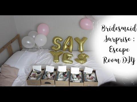 bridesmaids surprise escape room diy youtube. Black Bedroom Furniture Sets. Home Design Ideas