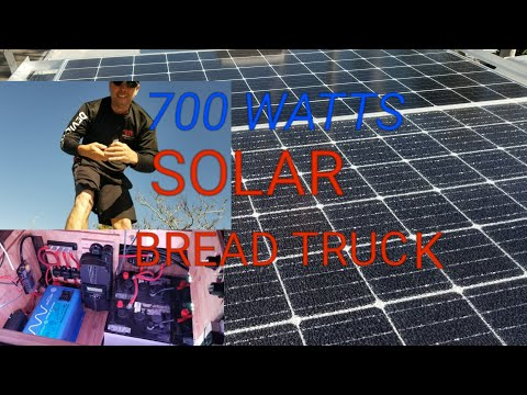 700 Watt Solar Install On Paul Barger's Bread Truck, Thanks For Watching.