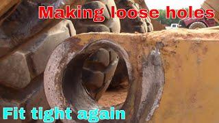 Dirt pan pin repair
