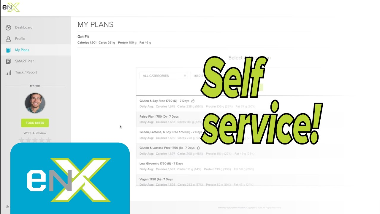 Creating your Self Service Plan (client) | Evolution Nutrition