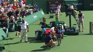 Indian Wells 2018 Final   Federer Vs Del Potro court level
