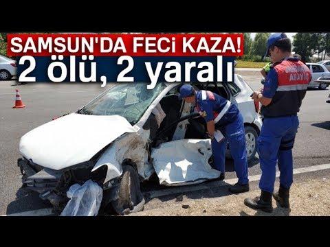 Samsun'da Trafik Kazası: 2 Ölü, 2 Yaralı