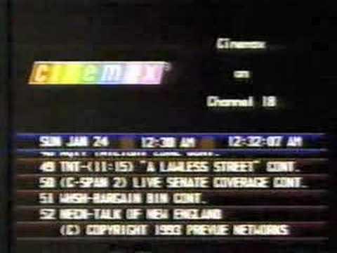 Prevue Guide On Paragon Cable 1993 Doovi