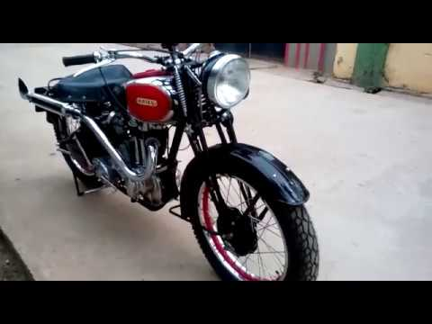 STUNNING Vintage ARIEL Motorcycle In INDIA Running Condition
