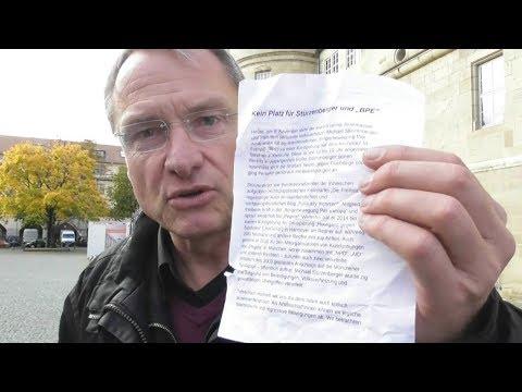 Verleumdung gegen Stürzenberger auf Flugblatt in Karlsruhe