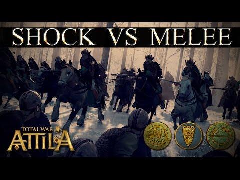 Total War Attila Mechanics - Burgundian Royal Lancers vs Tagmata  