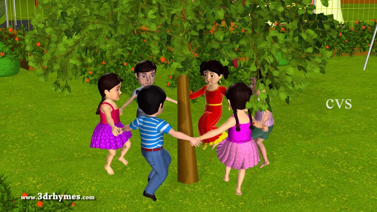 Here We Go Round The Mulberry Bush Animation Nursery Rhymes For Children You