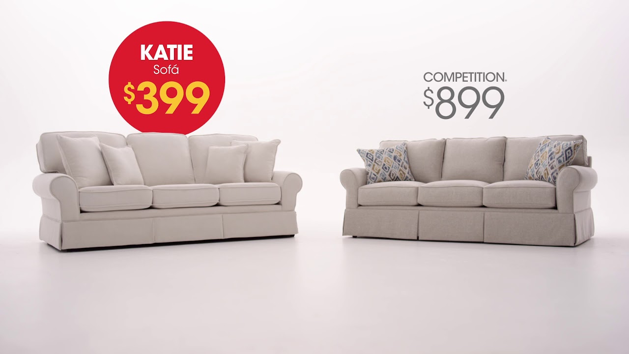 Get The Katie Sofa For Only 399 Bob S Discount Furniture Youtube