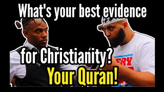 Pastor David Lynn Schools a Muslim On Isaiah 42 & Original Sin | Speakers Corner