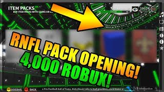 ROBLOX NFL 2 4,000 ROBUX PACK OPENING - SO MANY ELITES