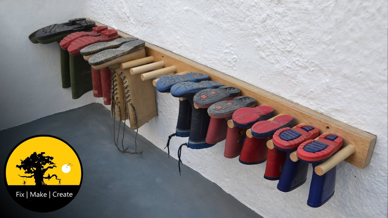 How To Make A Boot Rack