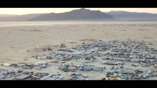 last dawn of the temple burning man 2014 4k drone